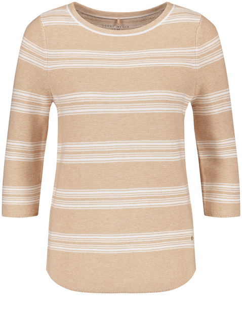 3/4-sleeve jumper in organic cotton