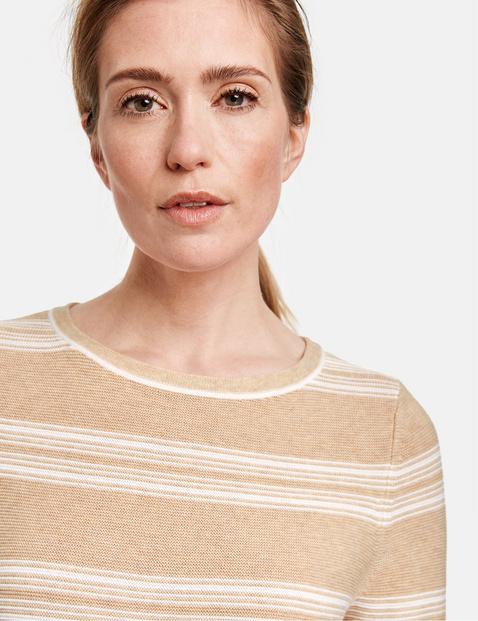 Sweter z rękawem o dł. 3/4, bawełna organiczna
