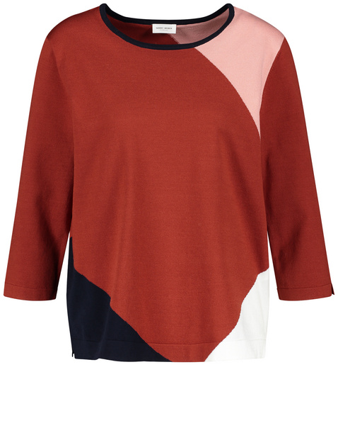 Jumper in a panelled look