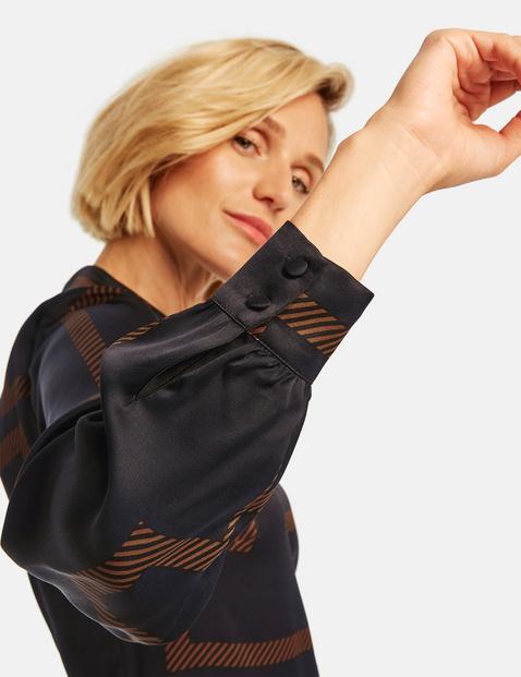 Blusenkleid mit grafischem Muster