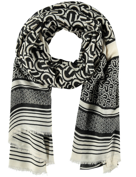 Scarf with a mixed pattern