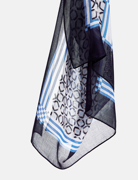 Scarf with a panelled design