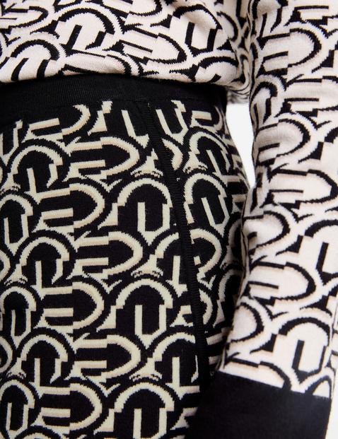 Spódnica dzianinowa z graficznym wzorem