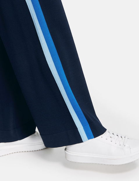 Wide jersey trousers