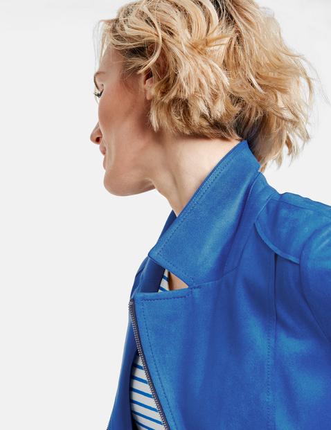 Zip-Blazer mit Velourstouch