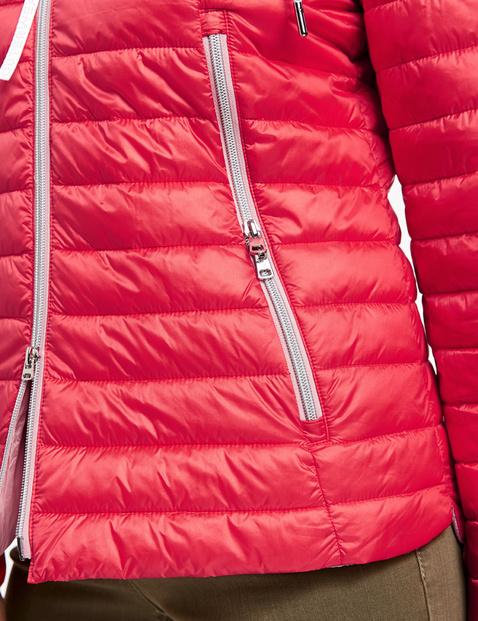 Gewatteerde jas met contrastvoering