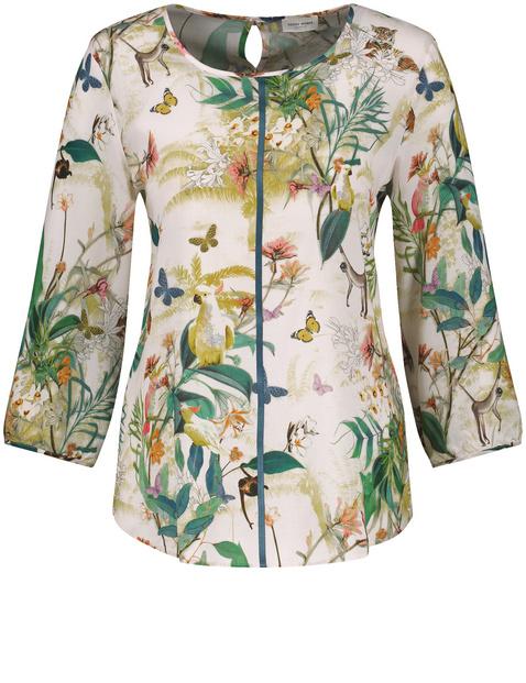 Bluzka w egzotyczny wzór