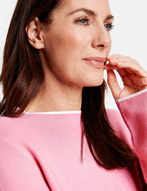 Pullover mit Lift-Up Kragen