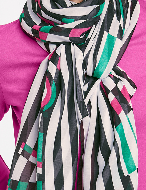 Schal mit kontrastfarbigem Muster