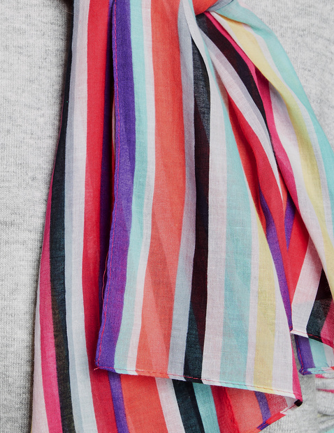 Schal mit farbigen Streifen