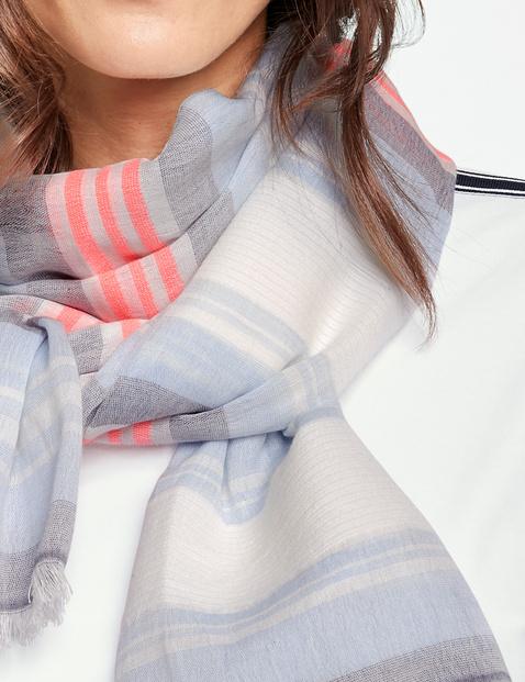 Schal mit farbigem Streifen