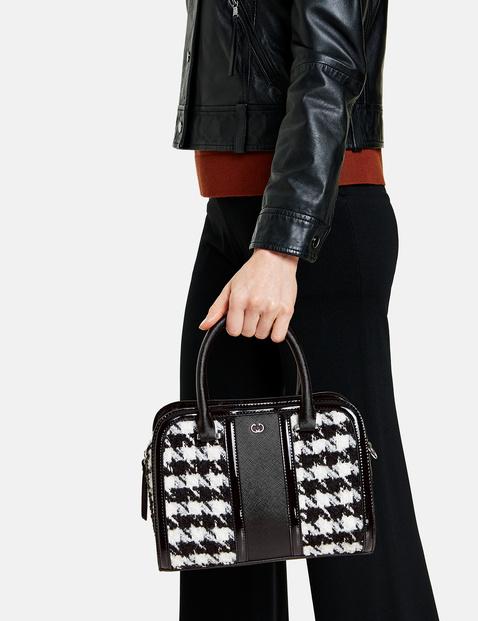 Handtasche mit Hahnentrittmuster