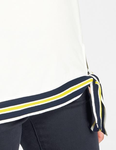 Shirt mit Strickblenden