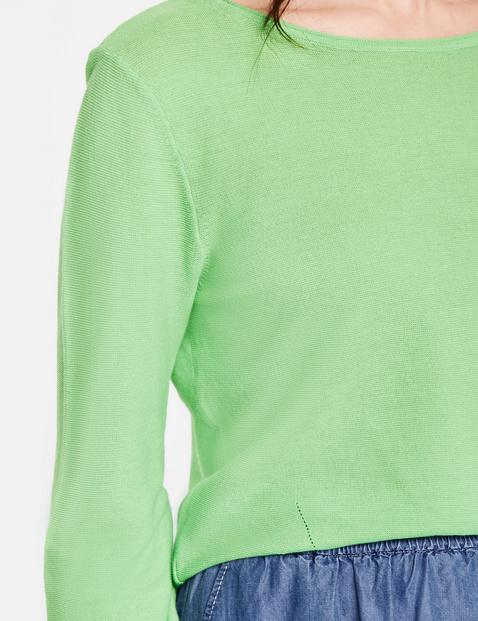 Oversize Pullover mit Strukturstrick
