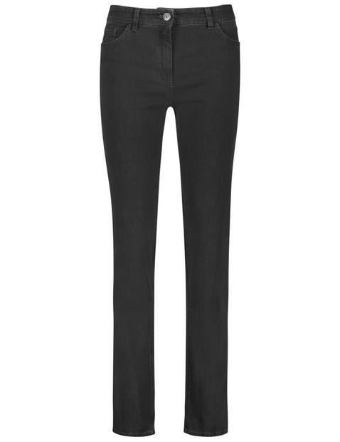 Dżinsy z 5 kieszeniami, straight fit, krótki rozmiar