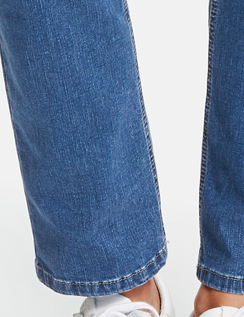 Five-pocket petite straight fit jeans