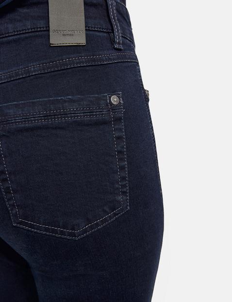 Five-pocket petite straight fit jeans