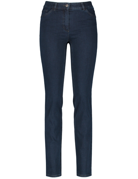 Petite, straight fit 5-pocket jeans