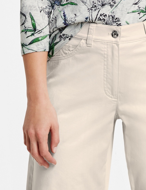 Shorts with a gathered hem