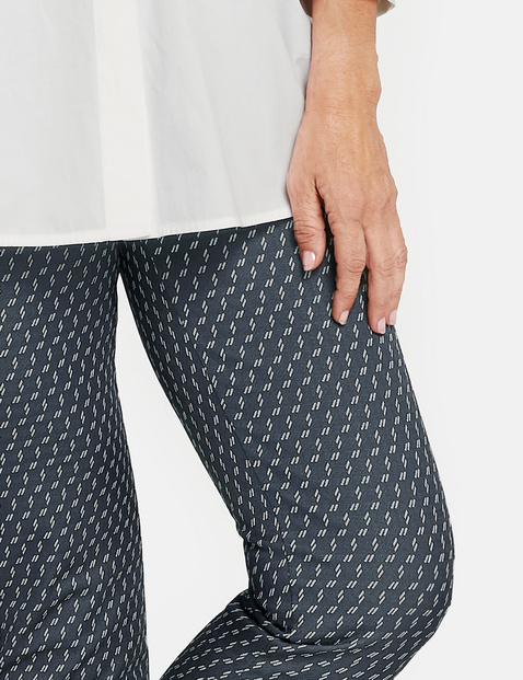 7/8-length trousers with a minimalist pattern, Slim Fit