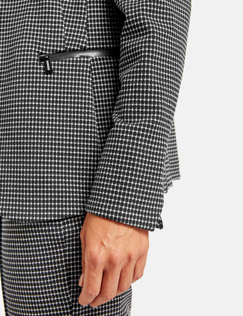 Mini houndstooth blazer