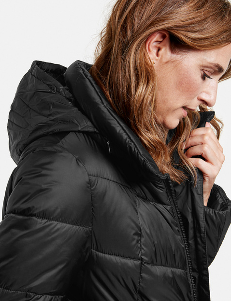Jacket with diagonal topstitching