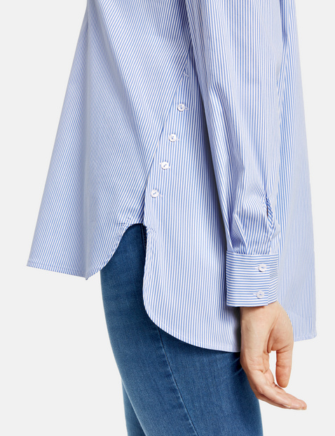 Blouse with pinstripes