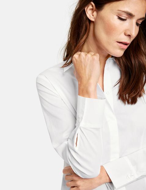 Bluzka koszulowa z krytą listwą guzikową