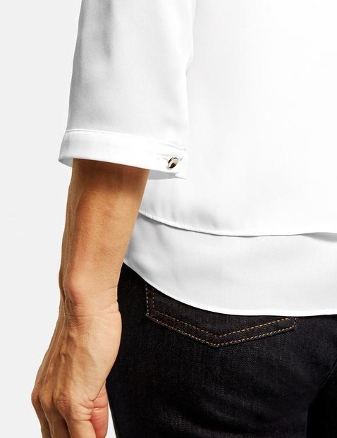 3/4 Arm Bluse mit Überwurfeffekt