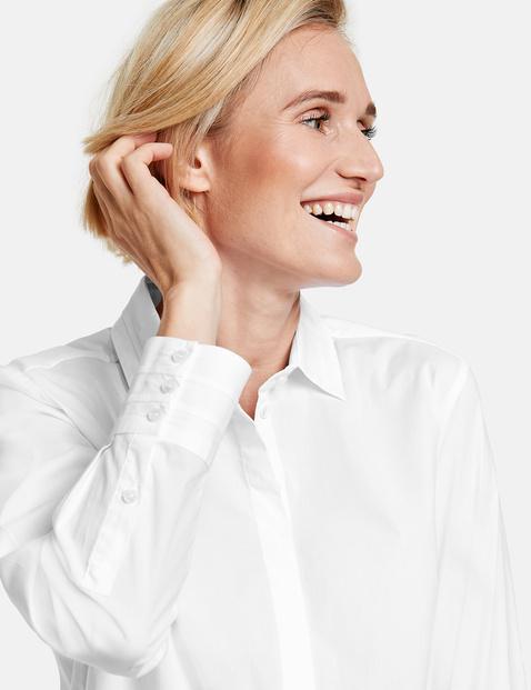 Bluzka z długim rękawem z elastycznej bawełny