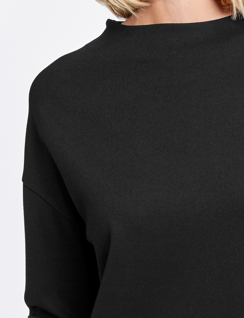 Shirt met brede opstaande kraag