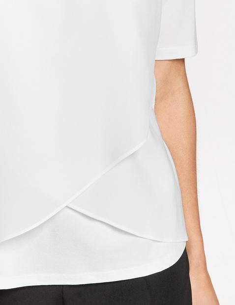 Shirt mit Chiffonvoile