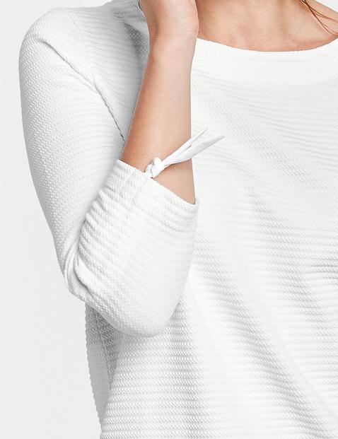 3/4 Arm Shirt mit Raffdetail