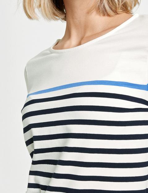 3/4 Arm Shirt mit Ringeldessin