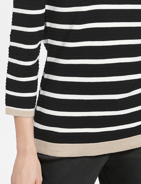 3/4 Arm Pullover mit Ringel