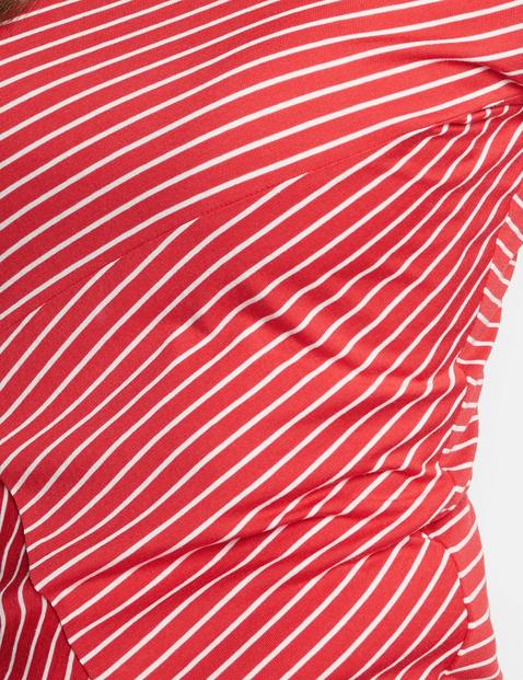 Shirt met 3/4-mouwen en asymmetrische strepen