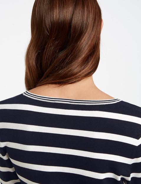 3/4 Arm Pullover mit Streifen