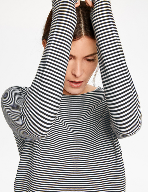 Finely striped jumper