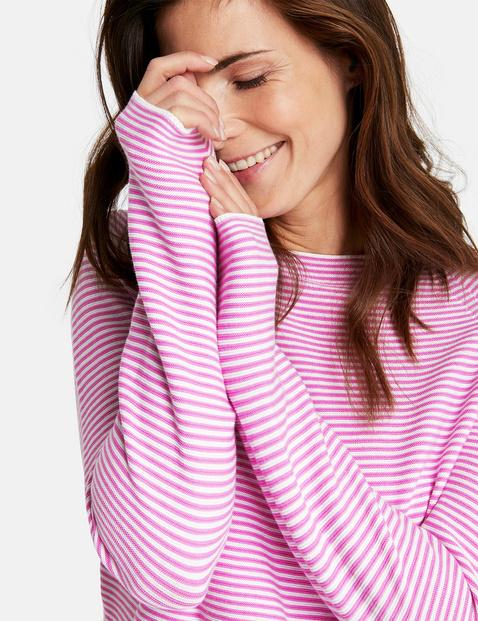 Finely striped jumper