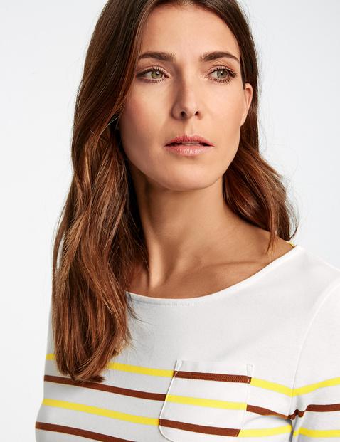 Geringeltes 3/4 Arm Shirt