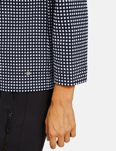 3/4 Arm Shirt mit Kästchenmuster