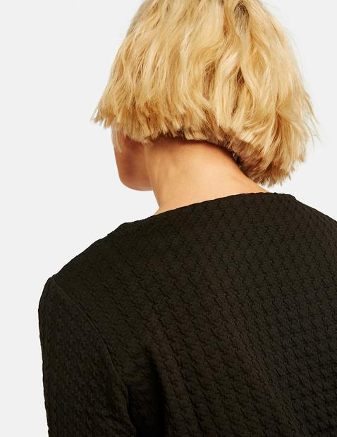 Sweatshirt in a jacquard look
