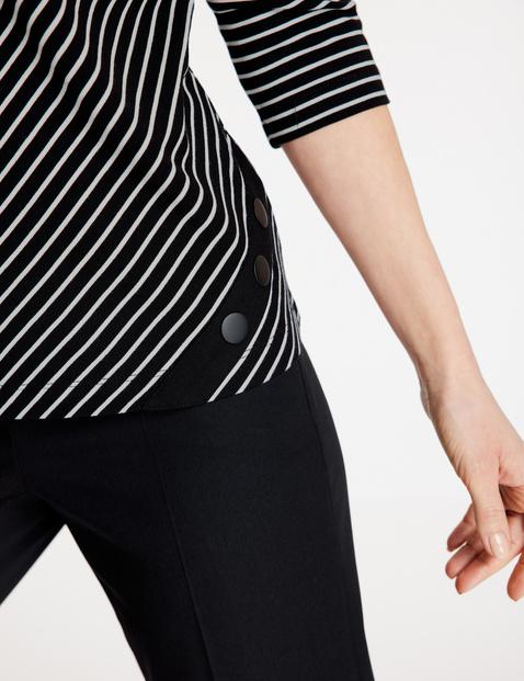 3/4 Arm Shirt mit diagonalem Streifen
