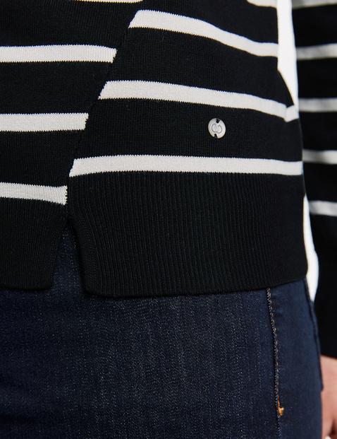 Pullover mit Streifendessin